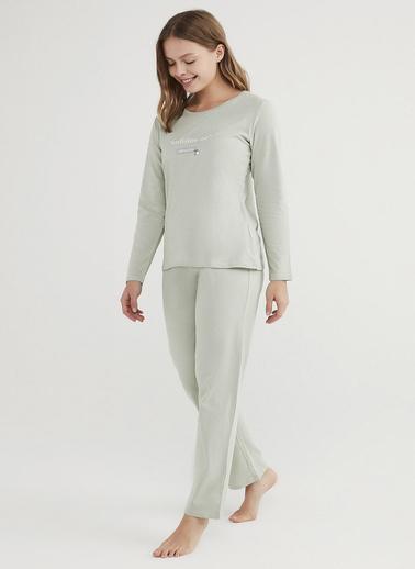 Penti Kadın Mint Yeşili Base Unfollow Pijama Takım PN27B9VN21IY Yeşil